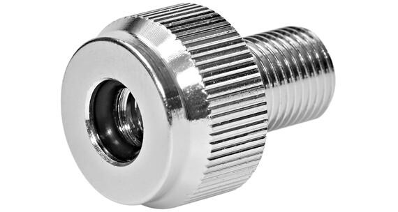XLC Reduseringsnippel fra AV-pumpe til DV/SV alu sølv